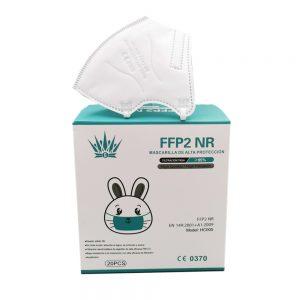 20 Mascherine FFP2 certificate per Bambini CE 0370  con Protezione Respiratoria, Antipolvere a 5 Strati