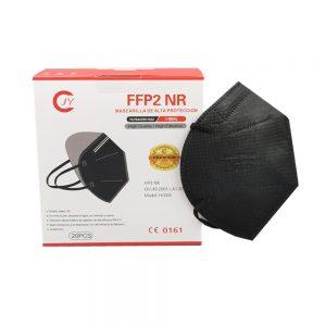 20 Mascherine FFP2 Nere certificate CE 0161 con Protezione Respiratoria, 5 Strati